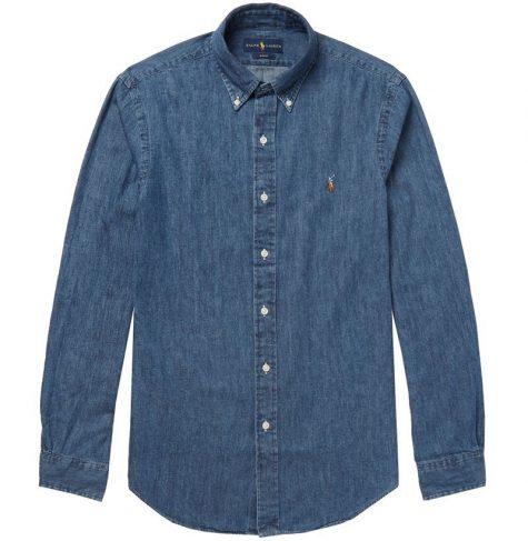 áo denim nam-Polo Ralph Lauren Washed-Denim Shirt