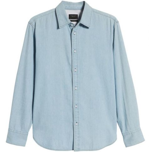 denim nam-Rag & Bone Fit 3 Denim Shirt