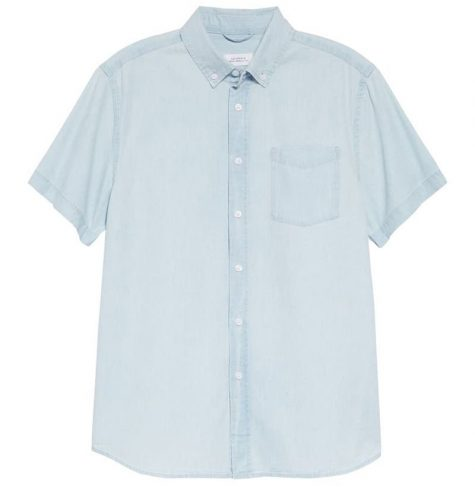 áo denim nam-Saturdays NYC Esquina Denim Shirt