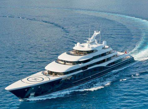 Du thuyền Symphony trị giá 150 triệu USD của Bernard Arnault.