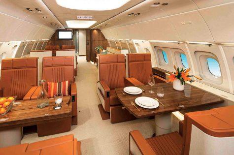 Nội thất bên trong chuyên cơ ACJ319 của Eva Air được thiết kế bởi Hermès.