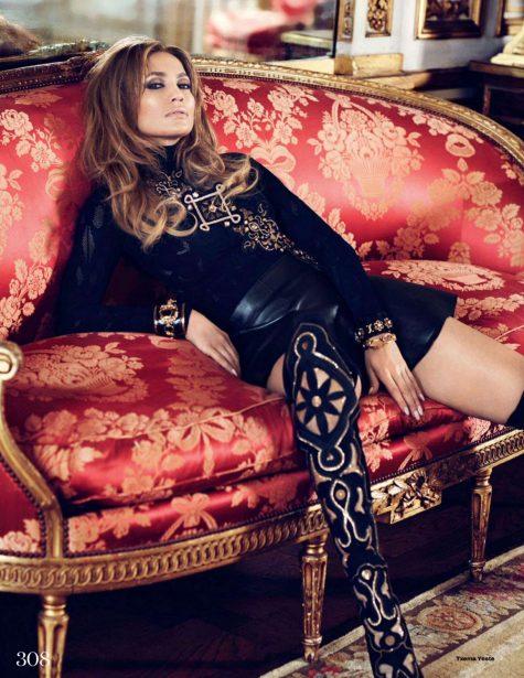 Nữ ca sĩ cung Cự Giải Jennifer Lopez ELLE UK 2014