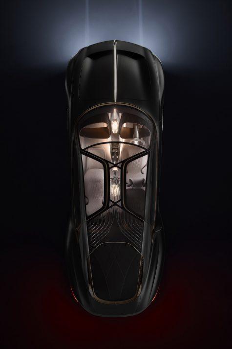 xe dien bentley EXP 100 GT - nhin tu tren dark mode