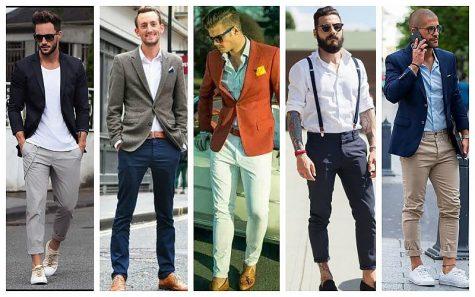 business casual cho nam giới mẫu nam mặc áo blazer quần chinos và giày