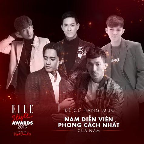 elle style awards 2019 - hạng mục nam diễn viên
