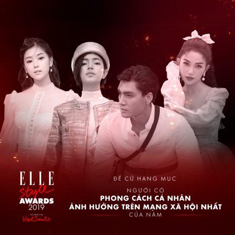 4 gương mặt trong đề cử Người có phong cách cá nhân ảnh hưởng trên mạng xã hội nhất năm tại ELLE Styles Awards 2019 là: Hoàng Yến Chibi, Châu Bùi, Quang Đại, Sĩ Thanh.