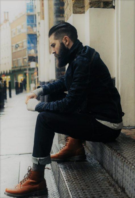 Giày boots nam ELLE Man Brogue Boots