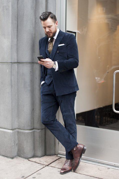 Giày Boots nam ELLE Man Suit và Lace-Up Boots