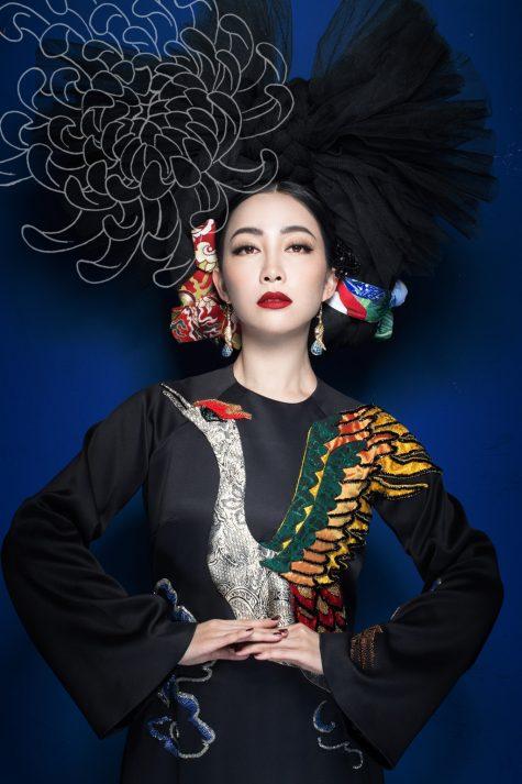 nghệ sĩ múa Linh Nga trong thiết kế áo dài của NTK Thủy Nguyễn