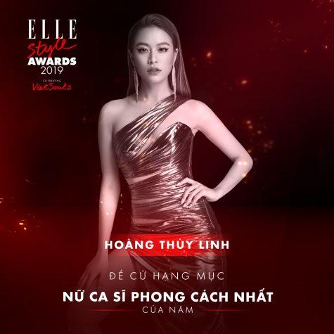 elle style awards 2019 - nữ ca sĩ Hoàng Thùy Linh