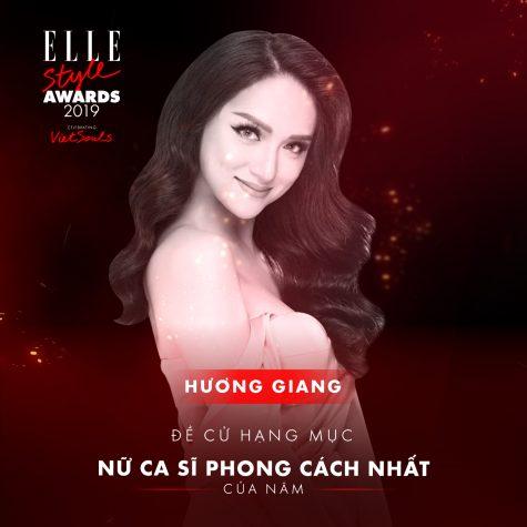 elle style awards 2019 - nữ ca sĩ Hương Giang