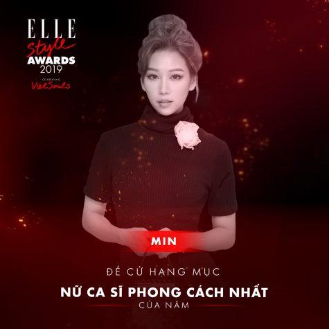 elle style awards 2019 - nữ ca sĩ Min
