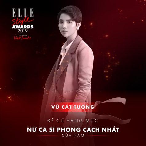 elle style awards 2019 - nữ ca sĩ Vũ Cát Tường