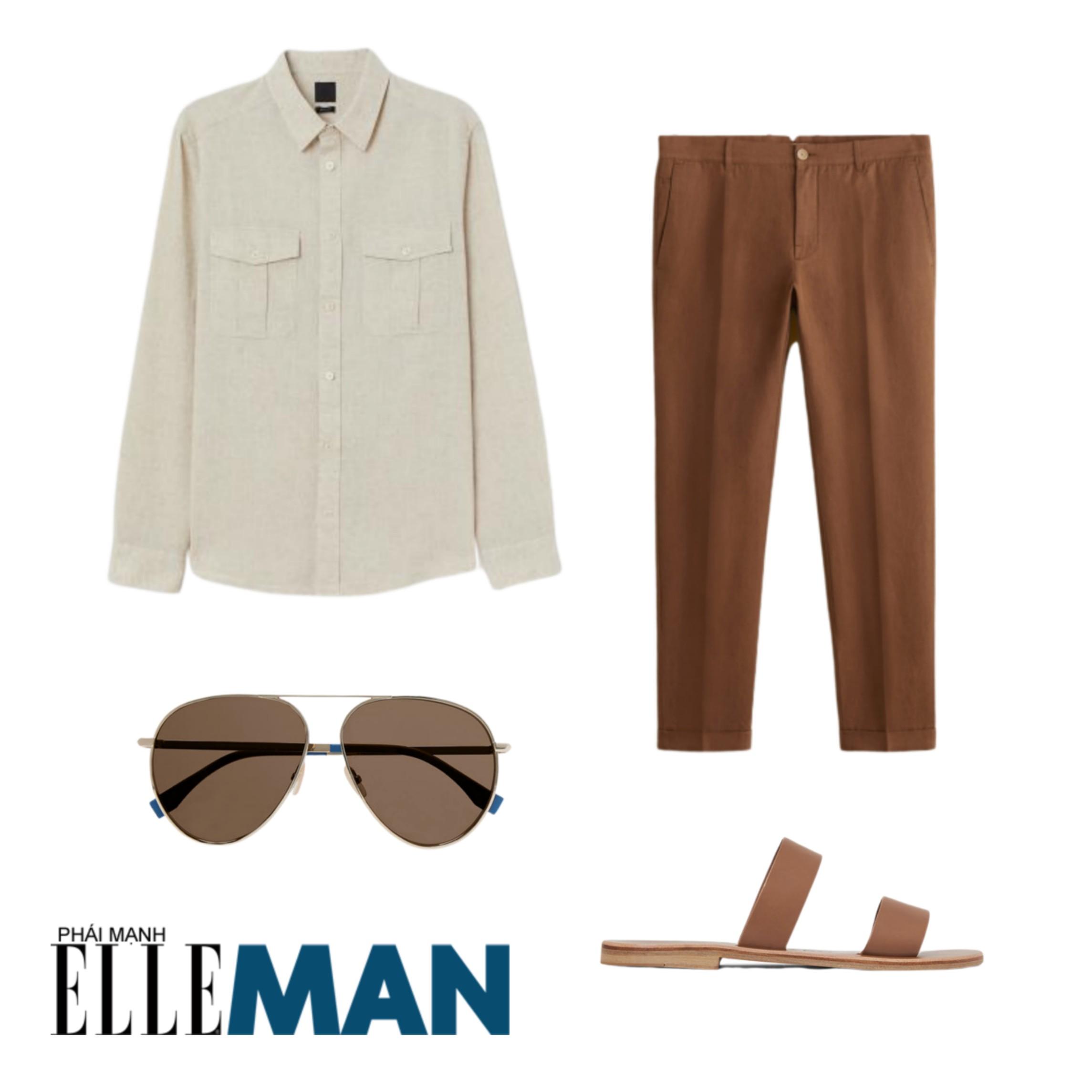 Trang phục đi biển ELLE Man gợi ý trang phục oldschool cho bữa tiệc tại bãi biễn