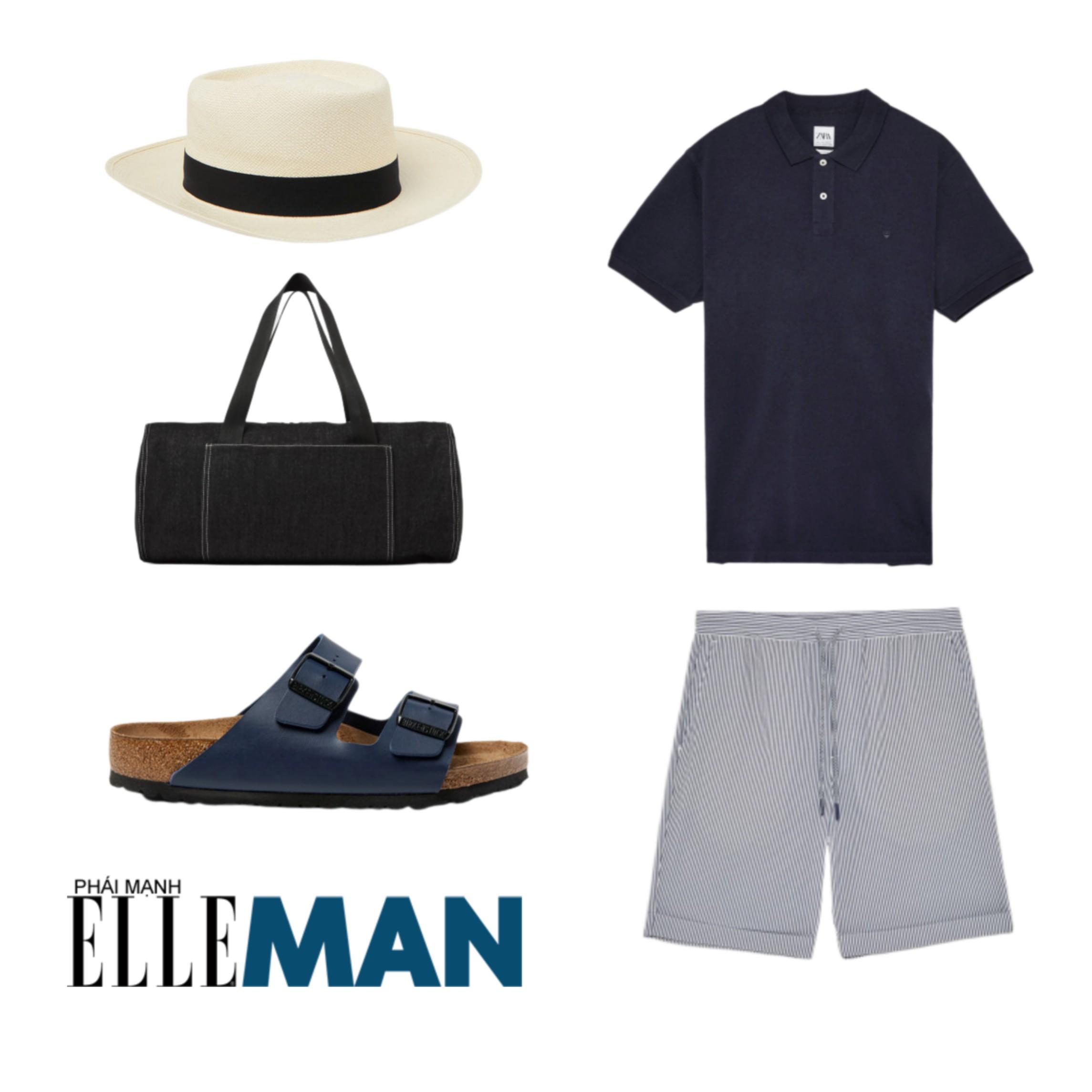Trang phục đi biển ELLE Man gợi ý trang phục ngày dài tại biển