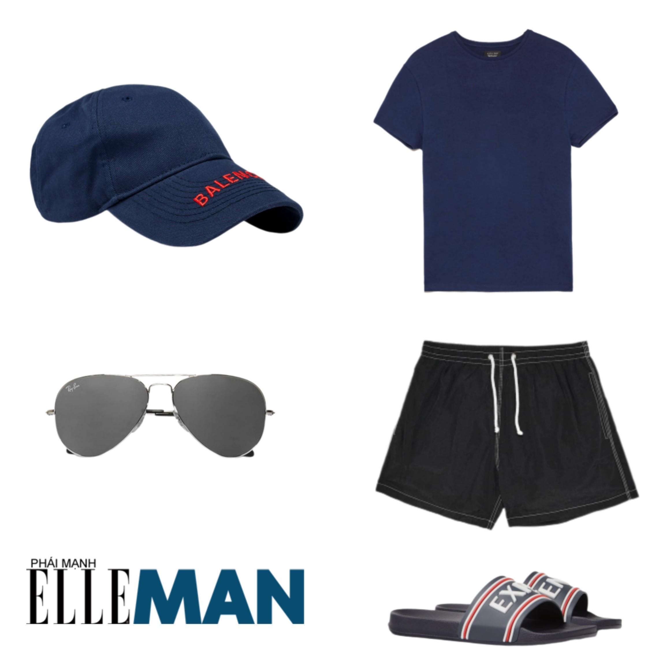 Trang phục đi biển ELLE Man gợi ý trang phục ngày vận động