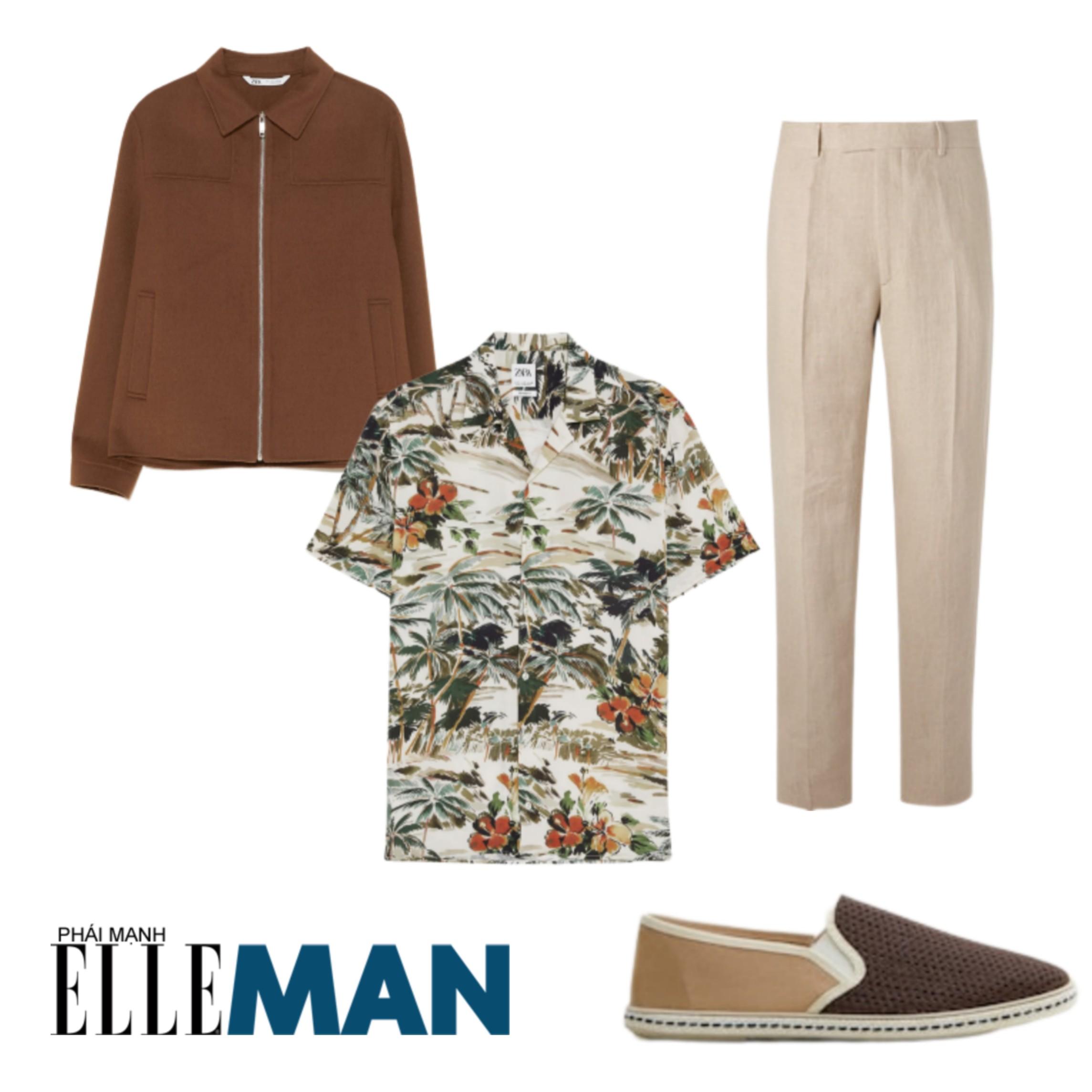 Trang phục đi biển ELLE Man trang phục chill