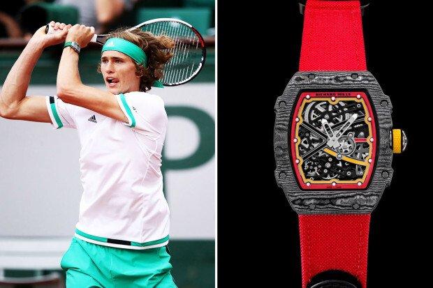 mẫu đồng hồ nam-Alexander Zverev richard mille RM 67-02 Carbon TPT(R)