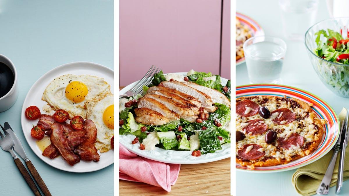 tập thể hình-bữa ăn đầy đủ dinh dưỡng