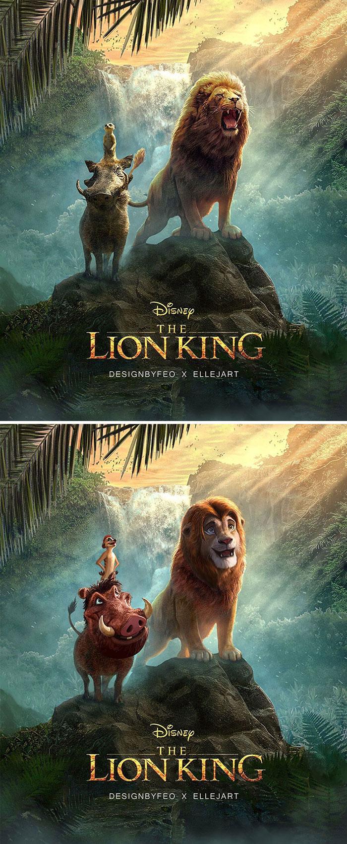 vua sư tử-tạo hình lion king remake