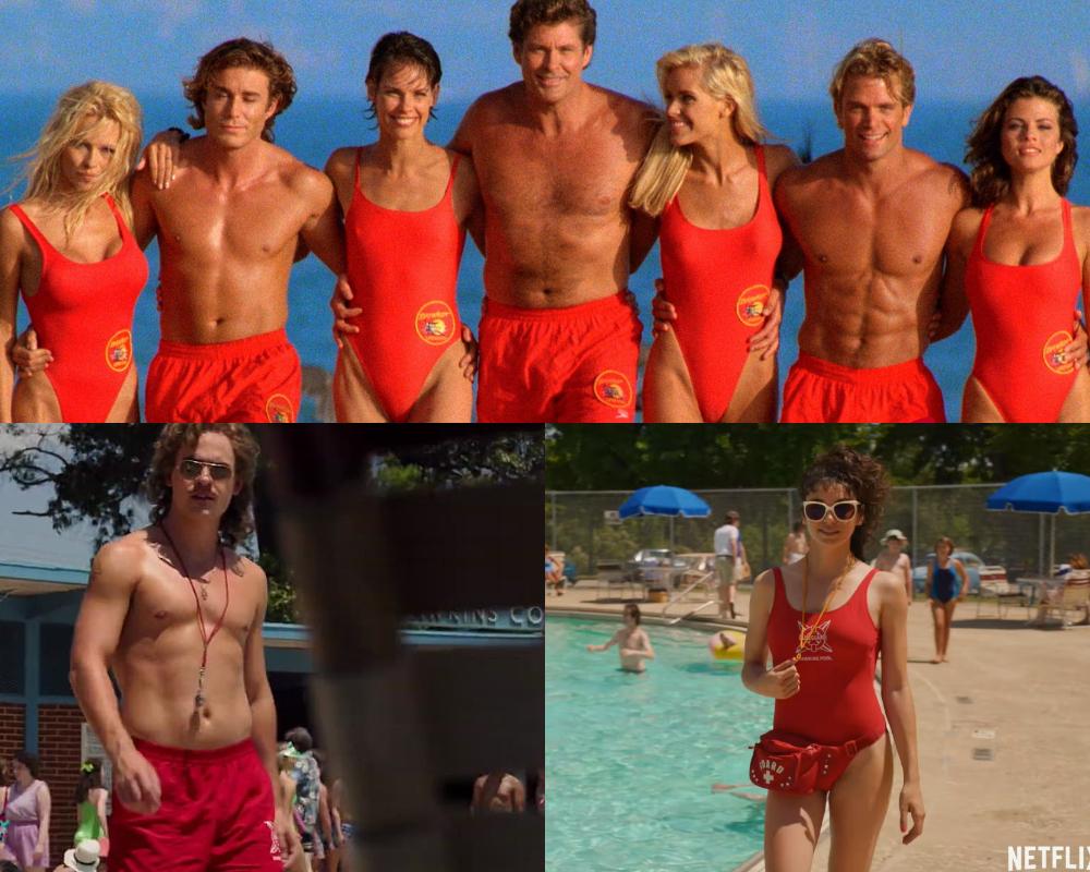 thời trang phim stranger things đồng phục ở hồ bơi