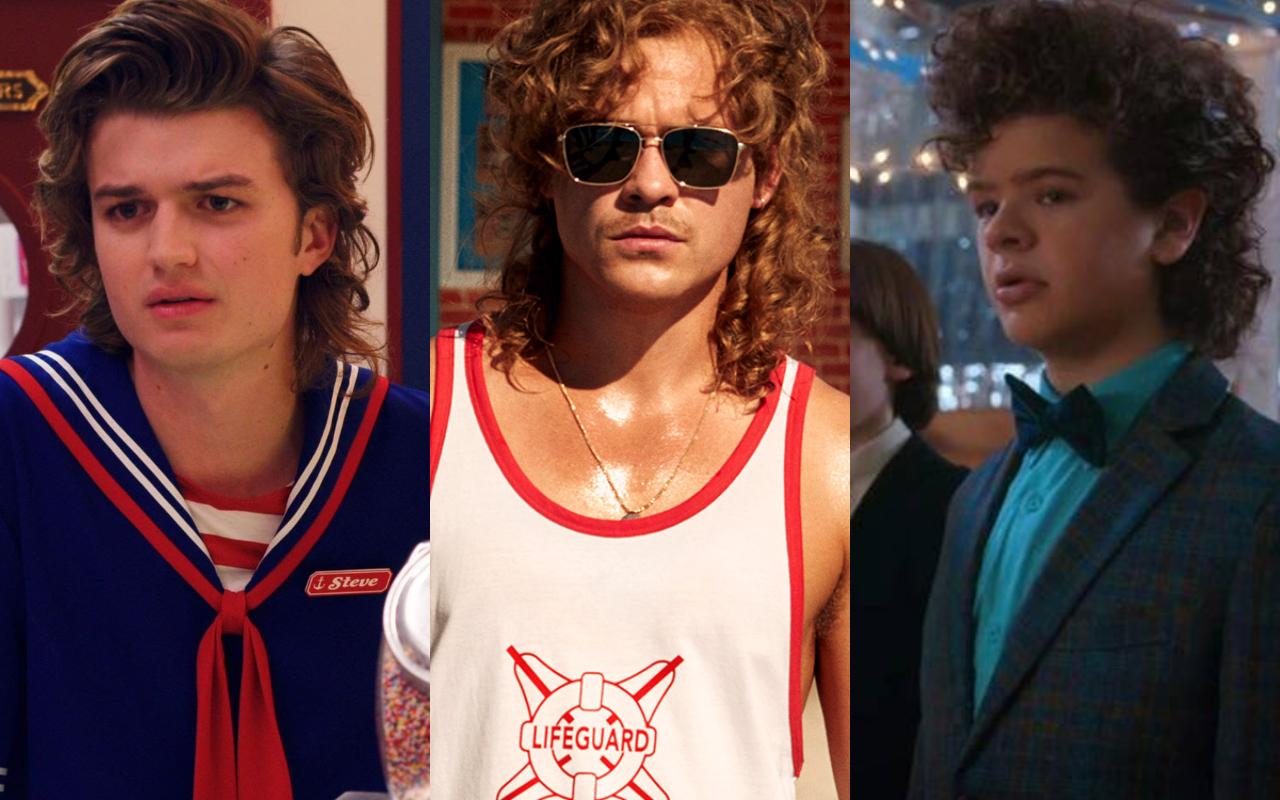 thời trang phim stranger things kiểu tóc mullet nổi bật