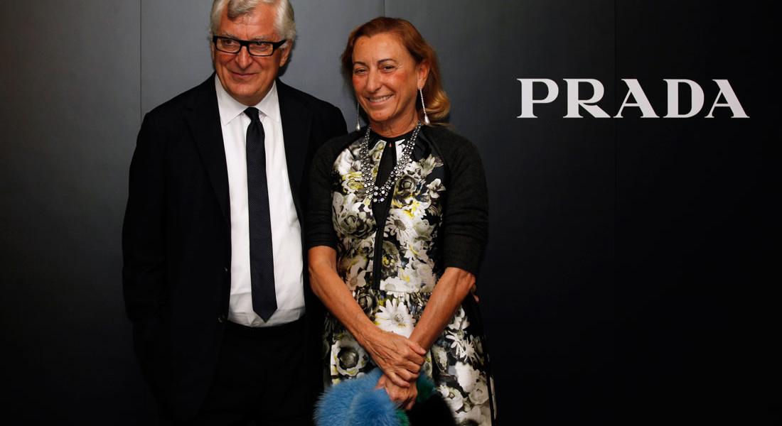 hình ảnh vợ chồng Miuccia Prada và Bertelli