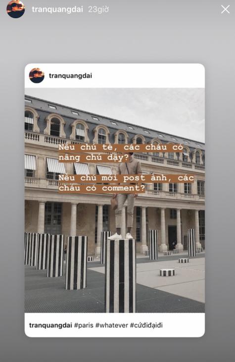 ESAs ELLE Man ảnh chụp màn hình instagram Quang Đại