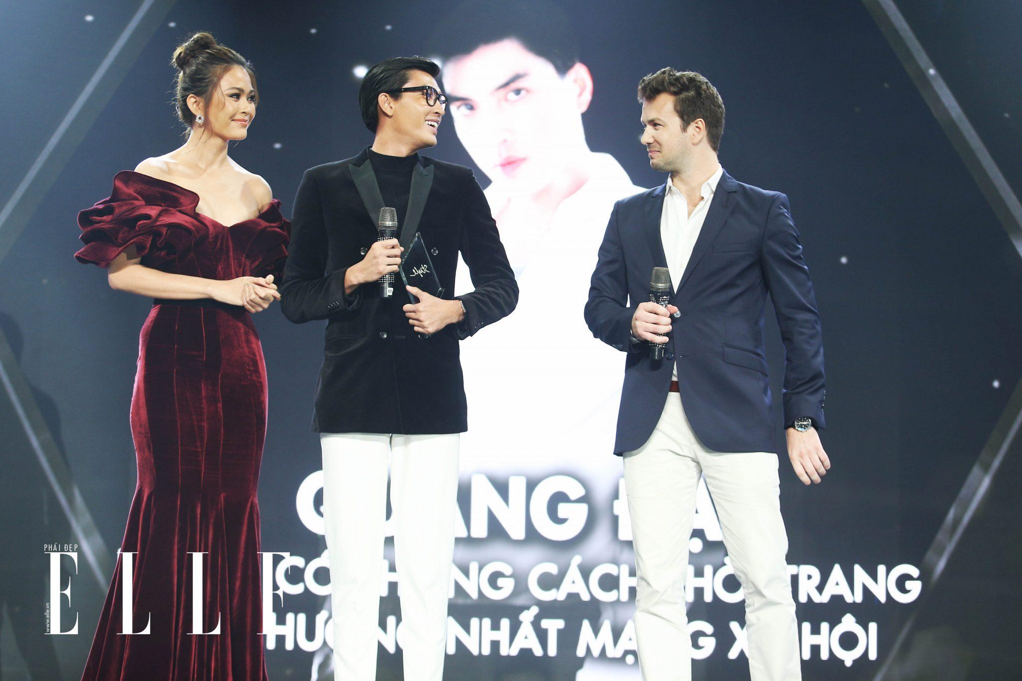 ESAs ELLE Man Quang Đại trên sân khấu ESAs 2018