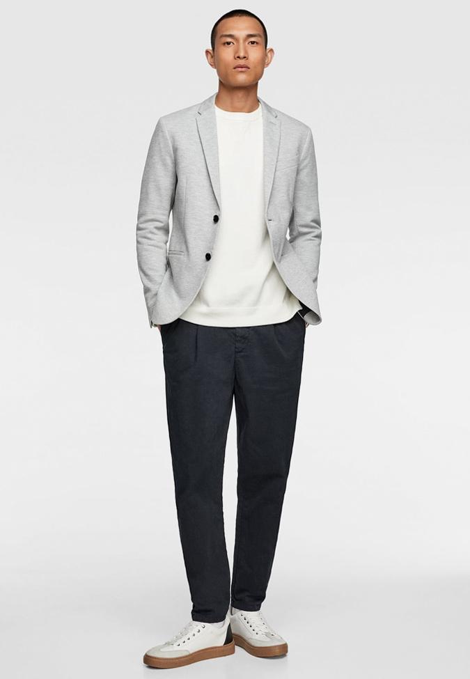 áo khoác blazer không cấu trúc theo phong cách casual