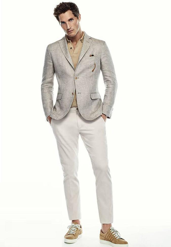 áo khoác blazer không cấu trúc theo phong cách smart casual