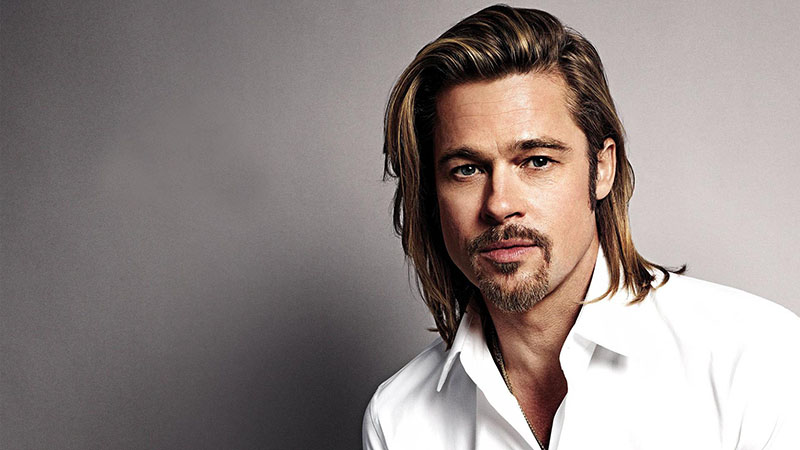 Mái tóc dài ELLE Man Brad Pitt