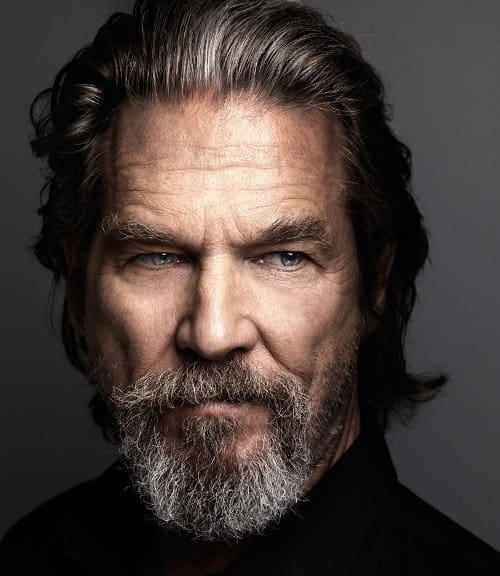 mái tóc dài elle man Jeff Bridges