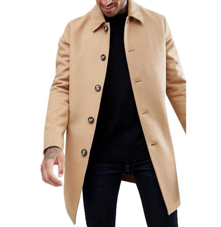 mẫu áo khoác nam ASOS Design Trench Coat