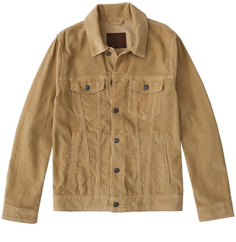 mẫu áo khoác nam Abercrombie & Fitch Corduroy Trucker Jacket