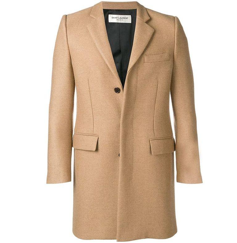 mẫu áo khoác nam Saint Laurent Single-Breasted Coat