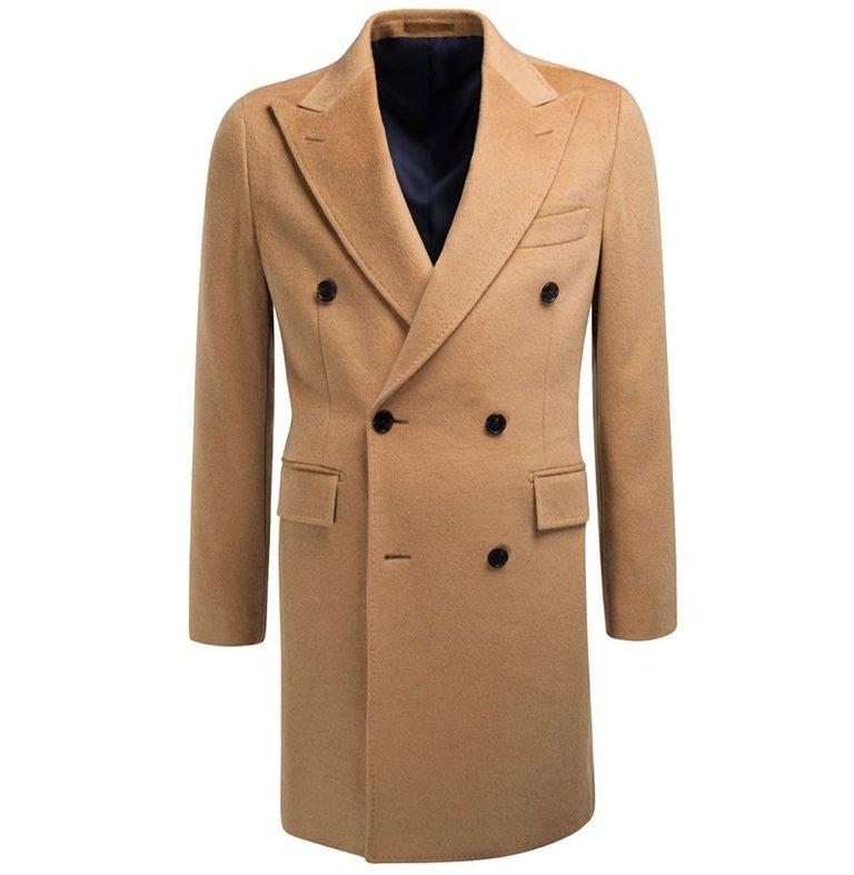 mẫu áo khoác nam Suitsupply Camel Double-Breasted Coat