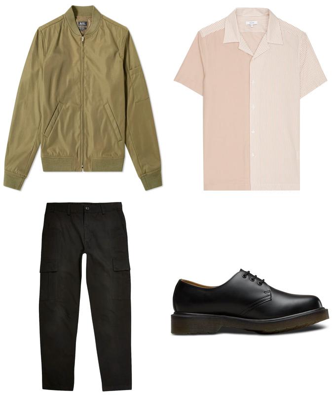 Áo khoác mùa hè ELLE Man cách mặc áo khoác bomber