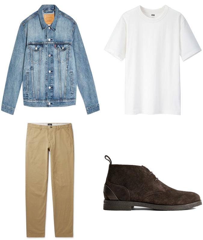 Áo khoác mùa hè ELLE Man cách mặc áo khoác denim