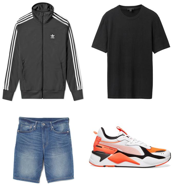 Áo khoác mùa hè ELLE Man cách mặc áo Track