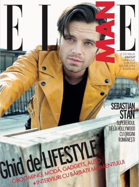 Diễn viên Sebastian Stan trên bìa tạp chí ELLE Man Romania