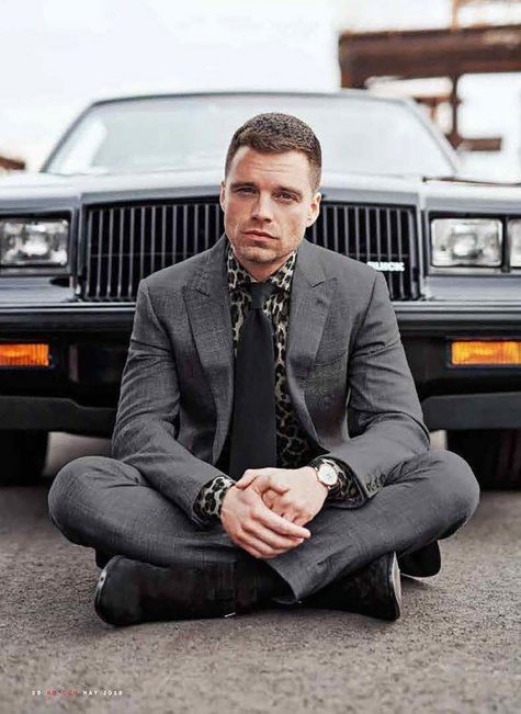 Sebastian Stan trên bìa tạp chí GQ