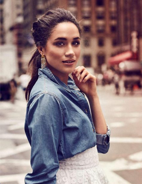 công nương Meghan Markle trên bìa tạp chí ELLE France