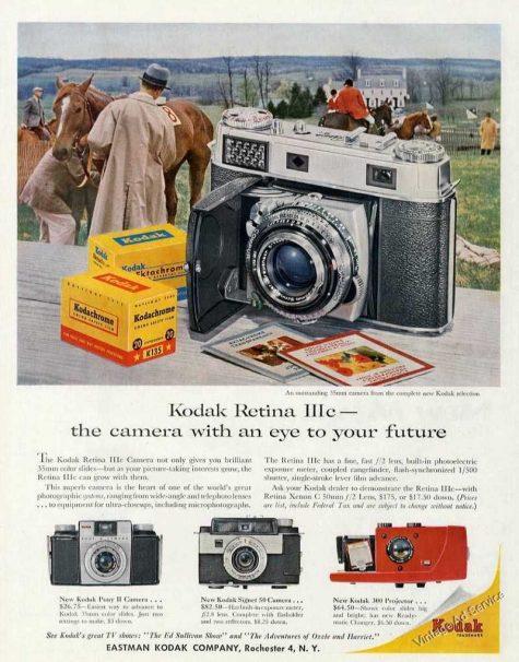 Huyền thoại Kodak Retina được quảng cáo như chiếc máy ảnh của tương lai