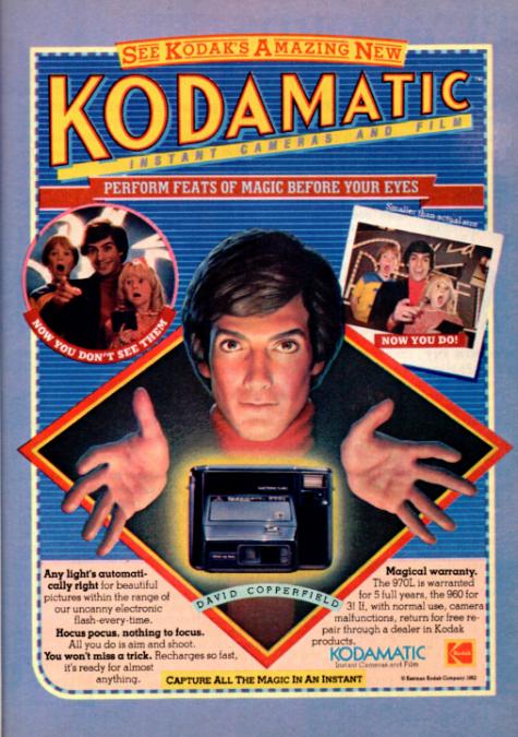 Logo thương hiệu kodak quảng cáo kodakmatic Sept 1982