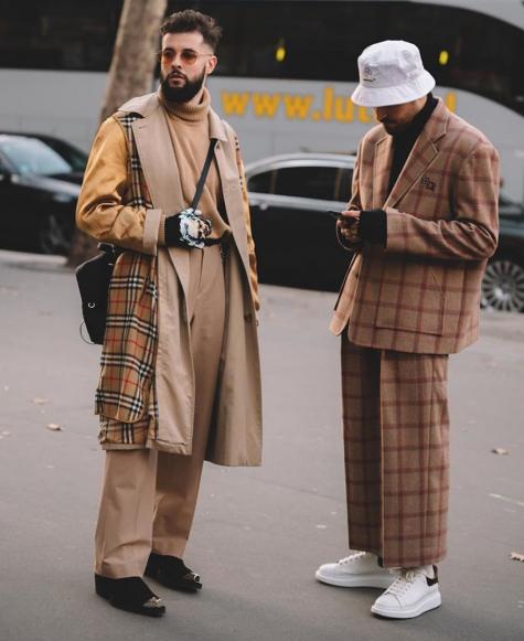phối đồ tông màu beige áo trechcoat