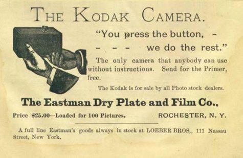 quảng cáo của thương hiệu kodak