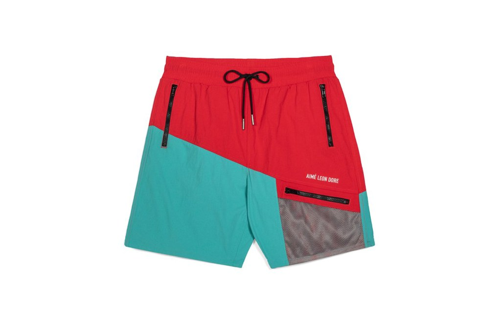 Quần short nam ELLE Man Aime Leon Dore color blocked hiking shorts