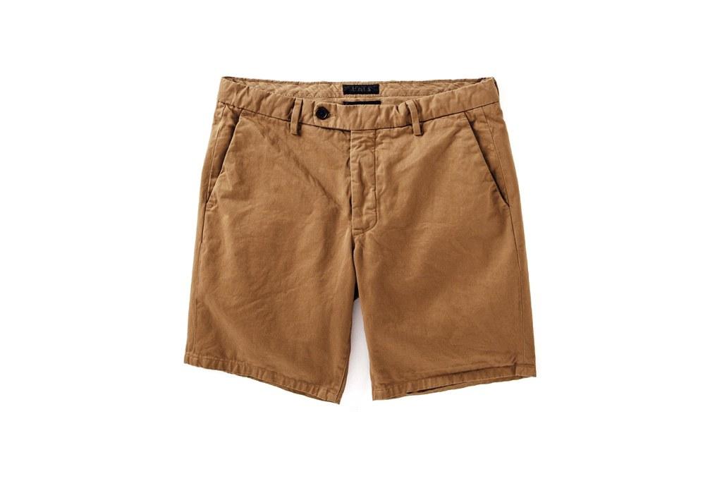 "Quần short nam ELLE Man Unis ""Emmett"" vintage khaki shorts"