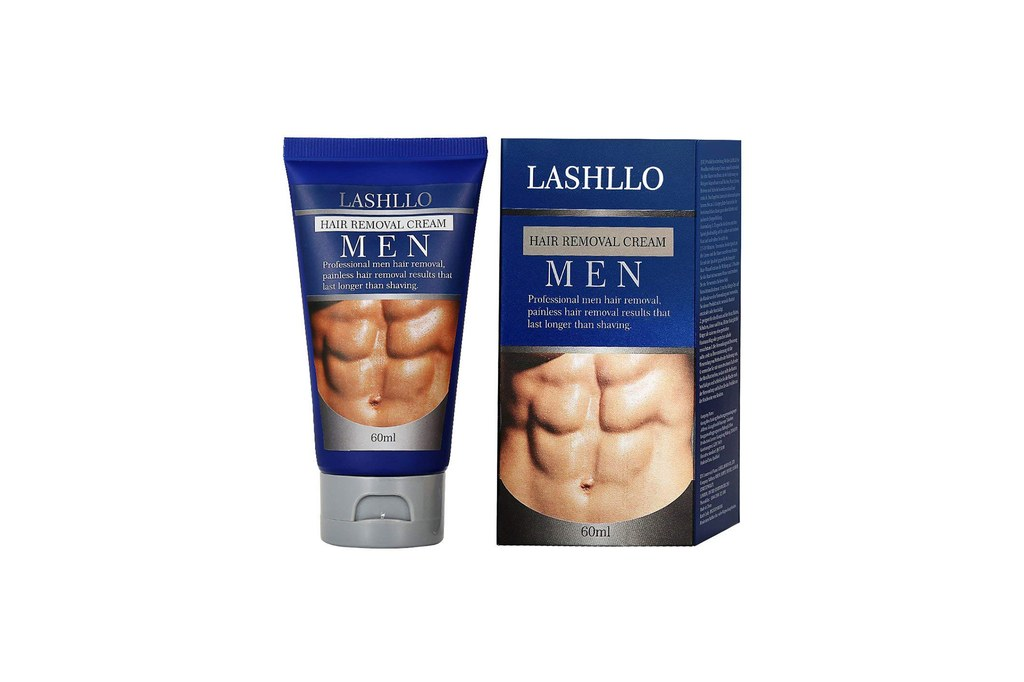 lông lưng elle man Lashllo body hair removal cream